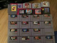 Snes, Nes, N64, Gamecube and other Games for sale
