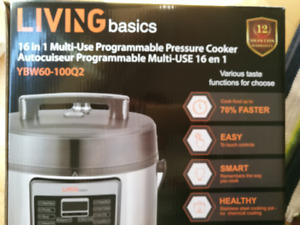 Pressure Cooker, 16 in 1 multi-use programmable,  new in the box