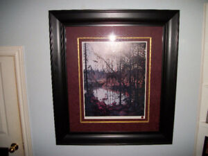 "TOM THOMSON - ""Northern River"" Numbered Print Matted and Framed"