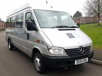 Mercedes-Benz SPRINTER 411 CDI + 16 SEATER MINIBUS + HIGH ROOF + TWIN WHEELS