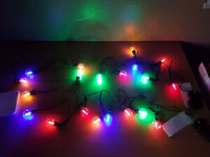 Battery Operated Clear Globe Cafe Lights Multi Colour 11ft