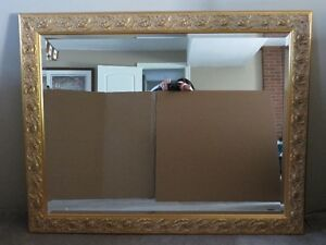 Large MIRROR in decorative gold frame