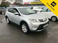 2013 Toyota RAV4 2.2 D-4D ICON 5d 150 BHP IN METALLIC SILVER WITH 72,000 MILES A