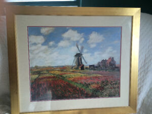 lithographie de claude monet : tulips in holland
