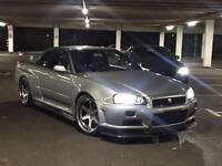 1999 V Reg Nissan Skyline R34 2.6 GTR V SPEC + RARE SILVER / GREY (KR4)