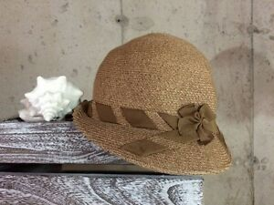 Women's Fall Vintage Cloche Hat, Woven Cotton Cloche Hat