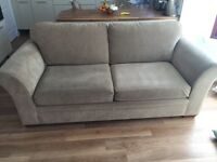 Next Mink 3 and 2 seater sofas