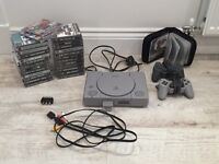 Retro Sony original PlayStation PS1 + 28 game bundle