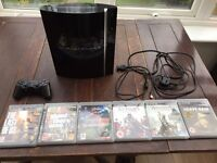 Play station 3+ 8 games +cables +joypad