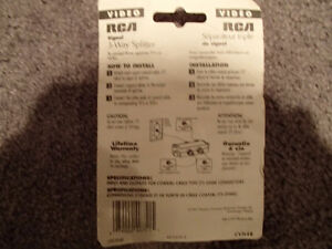 RCA CVH48 - 3-Way Splitter - To connect 3 separate TV's or VCR's Sarnia Sarnia Area image 2
