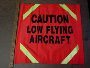 Seismic Road Sign: Caution Low Flying Aircraft. 3M Tape. New