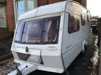 ABBEY SOMERSET GT 4/5 BERTH CARAVAN WITH FULL AWNING & Essentials.