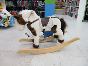 Soft rocking horse for babies