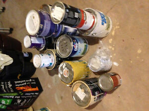 Lots of full/ near full and half cans of paint