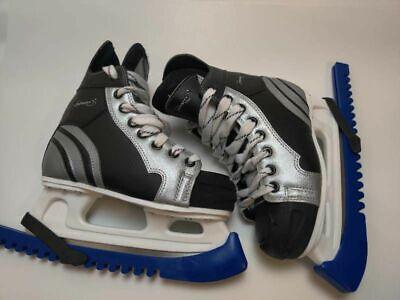 Infinity Boys Ice Hockey Skates Black Gray Lace Up High Top 4