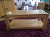 Solid Oak coffee table, excellent condition.