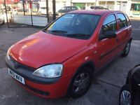 2002 Vauxhall Corsa 1.2 L, Automatic, 12 month MOT only @£899