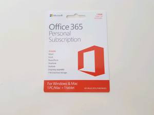 Office 365 personal subscription card
