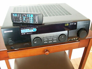 Kenwood Receiver Amplifier and Remote, Optional Turntable