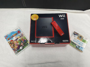 NEW Nintendo Wii Mini, comes with 2 Games