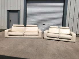 Real Cream leather 3+2 seater sofas couches suite 🚚🚚