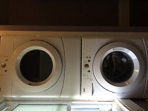 Electric washer and dryer stackable unit