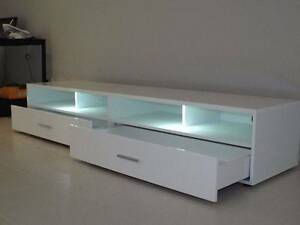 TV Unit - LED - 2 Drawers - White Gloss Malaga Swan Area Preview