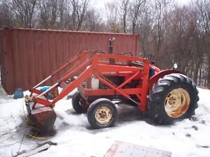 NUFFIELD 10/60 DIESEL TRACTOR WITH FORD LOADER