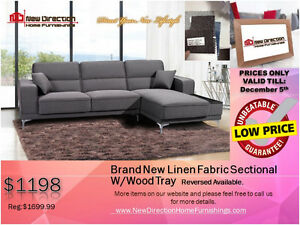 ◆BLACK FRIDAY WEEK! Brand New 2PCs CORDUROY Sectional@NEWD Edmonton Edmonton Area image 2