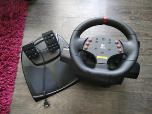 Slightly used Logitech Force Feedback Wheel for sales