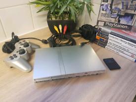 Playstation 2 Slim Silver & 9 Games