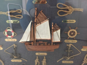 Brand New Sailboat Knots in Displayer with Glass