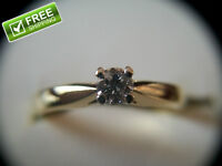 18k Yellow Gold Solitaire Brilliant Cut Diamond Engagement Ring