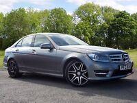 Mercedes-Benz C CLASS 2.1 C220 CDI AMG Sport Plus 4dr (silver) 2013