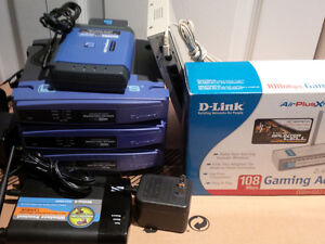 LOT!! Networking stuff: Router, Bridge, Gaming Adapter, Switch
