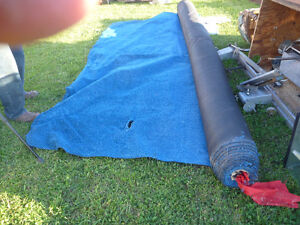 INDOOR OUTDOOR BLUE CARPET  APROX. 12 FT. X35 FT. NEVER USED