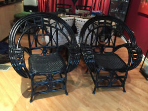 Designer Rattan Dining Room chairs