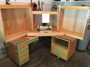 FREE - corner desk / cabinet / shelving unit