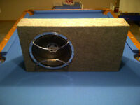 "12"" PPI Subwoofer, Enclosure and Alpine Grill"