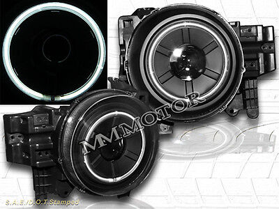 Fit For 2007-2014 Toyota FJ Cruiser Projector Headlights Halo CCFL Black Lamps