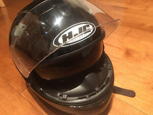 HJC IS-16 XL Gloss Black Helmet with Drop Down Sunvisor