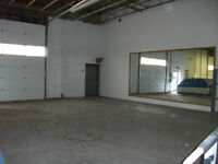 2 Warehouse spaces for lease!   Available from January 2015