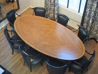 Bird's Eye Maple Boardroom Table & Buffet (2 pieces)