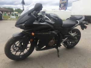 moto noir mat (rare) CBR500R 2016 honda