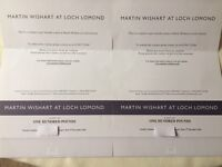 Martin Wishart at Loch Lomond vouchers