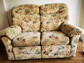 Fabric pribted 2 Seater Recliner Sofa