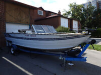 19 Ft.alluminum Sea Nymph with a 140Hp Johnson outboard motor.