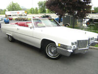 location voiture antique limo Cadillac convertible decapotable