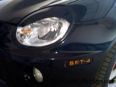 Dodge Neon Colors (SRT 4 Dodge Neon S STYLE CURVE EYELID Head light Overlays vinyl COLOR BLACK)