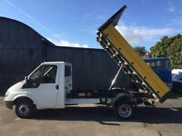 2006 06 ford transit 90 t350 tipper no vat 1 owner 66k miles